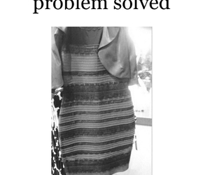 dress, funny, and white and gold image