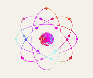 atom, elements, and science image