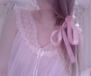girl, pale, and pink image