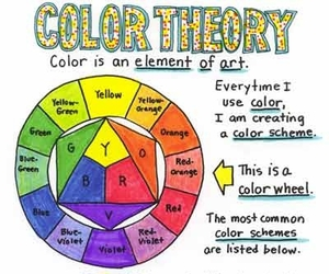 color, art, and color theory image