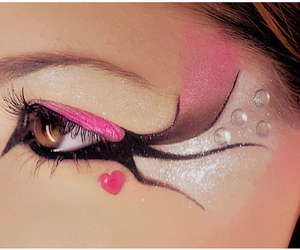 pink, make up, and eyes image