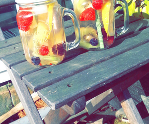 friend, water, and fruit image