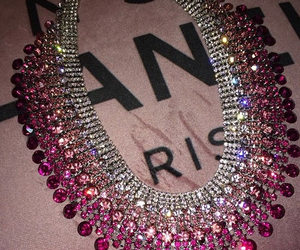 pink, necklace, and diamond image