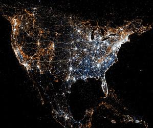 light, usa, and america image