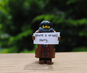 harry potter, hagrid, and wizard image