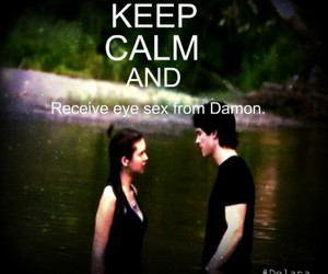 damon, keep calm and carry on, and stefan image