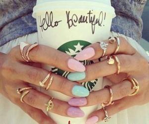 nail art and rings image