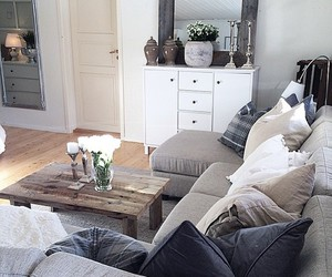 home, living room, and decoration image