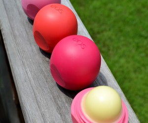 eos, lip balm, and pink image