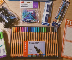 school, school supply, and material escolar image