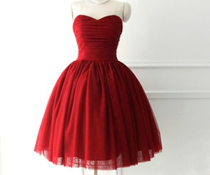 dress, fashion, and red dress image