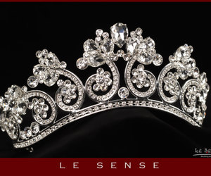 accessories, tiara, and weddings image