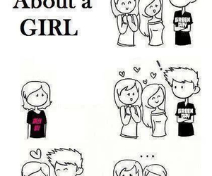 boy, girl, and green day image