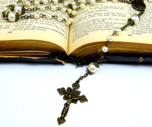 bead, pearl, and Catholic image