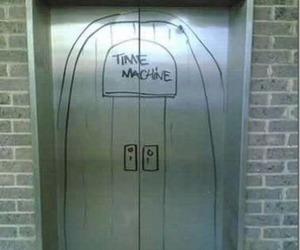 Time machine, elevator, and funny image
