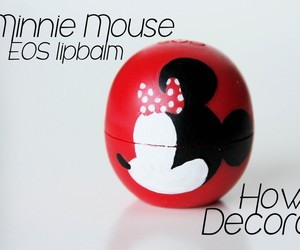 minniemouse, eos, and lipbalm image