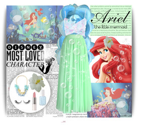 ariel, disney, and fashion image
