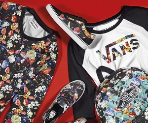 vans, flowers, and clothes image