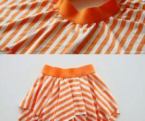diy, skirt, and orange image