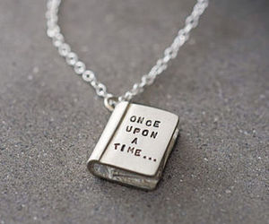 once upon a time, book, and necklace image