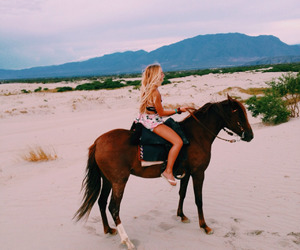 girl, horse, and cute image