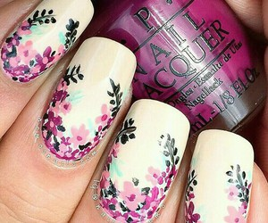 floral, flower, and nail art image