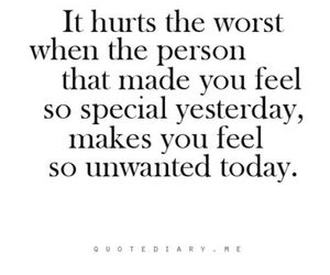 hurt, quotes, and unwanted image
