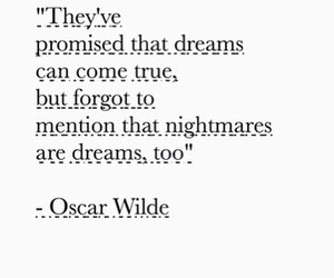 quote, dreams, and oscar wilde image