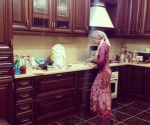 girl, kavkaz, and kitchen image