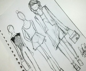 design, fashion, and sketch image