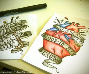heart, pen, and quote image
