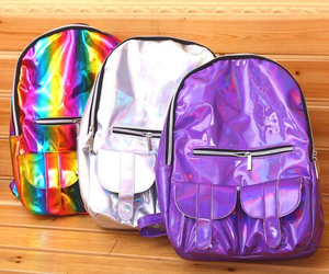 alternative, bag, and holographic image