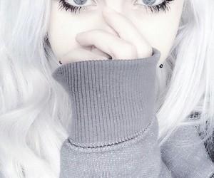 girl, white, and eyes image