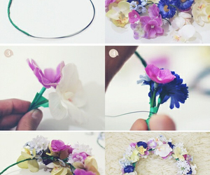 diy, flowers, and flores image