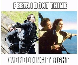 titanic, funny, and katniss image
