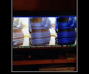 blue and black, the dress, and white and gold image