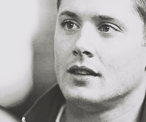 black and white, dean winchester, and Jensen Ackles image