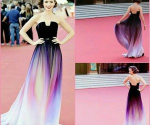 dress, fashion, and lily collins image