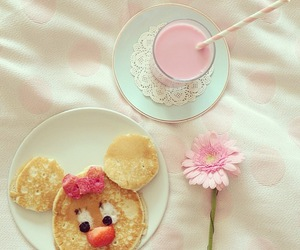 pink, food, and pancakes image