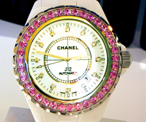 chanel, watch, and pink image