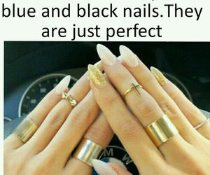 blue and black, da fuq, and whitegold image