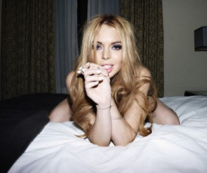 lindsay lohan, sexy, and black and white image