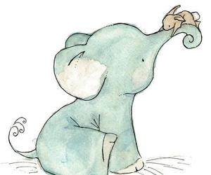 cute, elephant, and art image