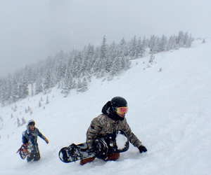 snow, snowboarding, and backcountry image