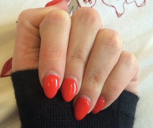 love it, red, and red nails image