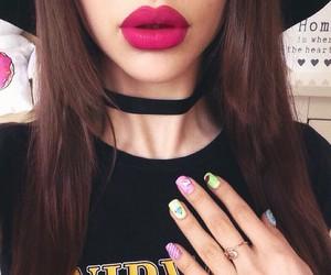 lips, grunge, and nails image