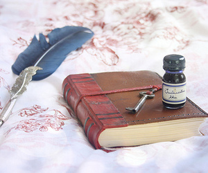book, ink, and diary image