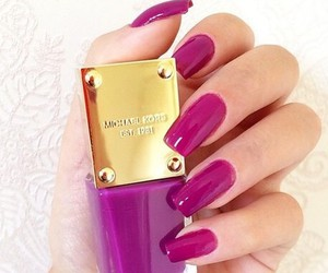 nails, purple, and Michael Kors image