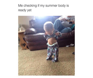 summer, body, and funny image