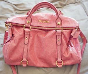 bag, pink, and miu miu image